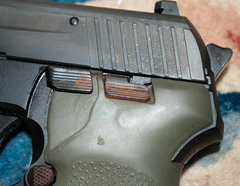 Rust On The Decocker Slide Lock And Mag Release Sig Talk