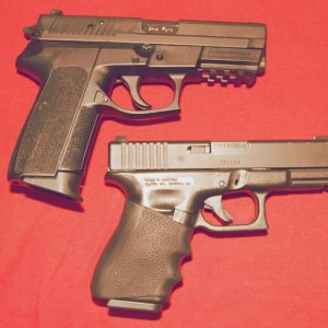 my Sig SP2022 and Glock 23